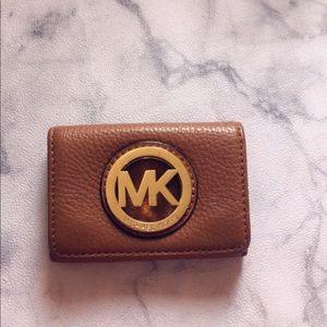 Michael Kors Fulton Tan Leather Card Case